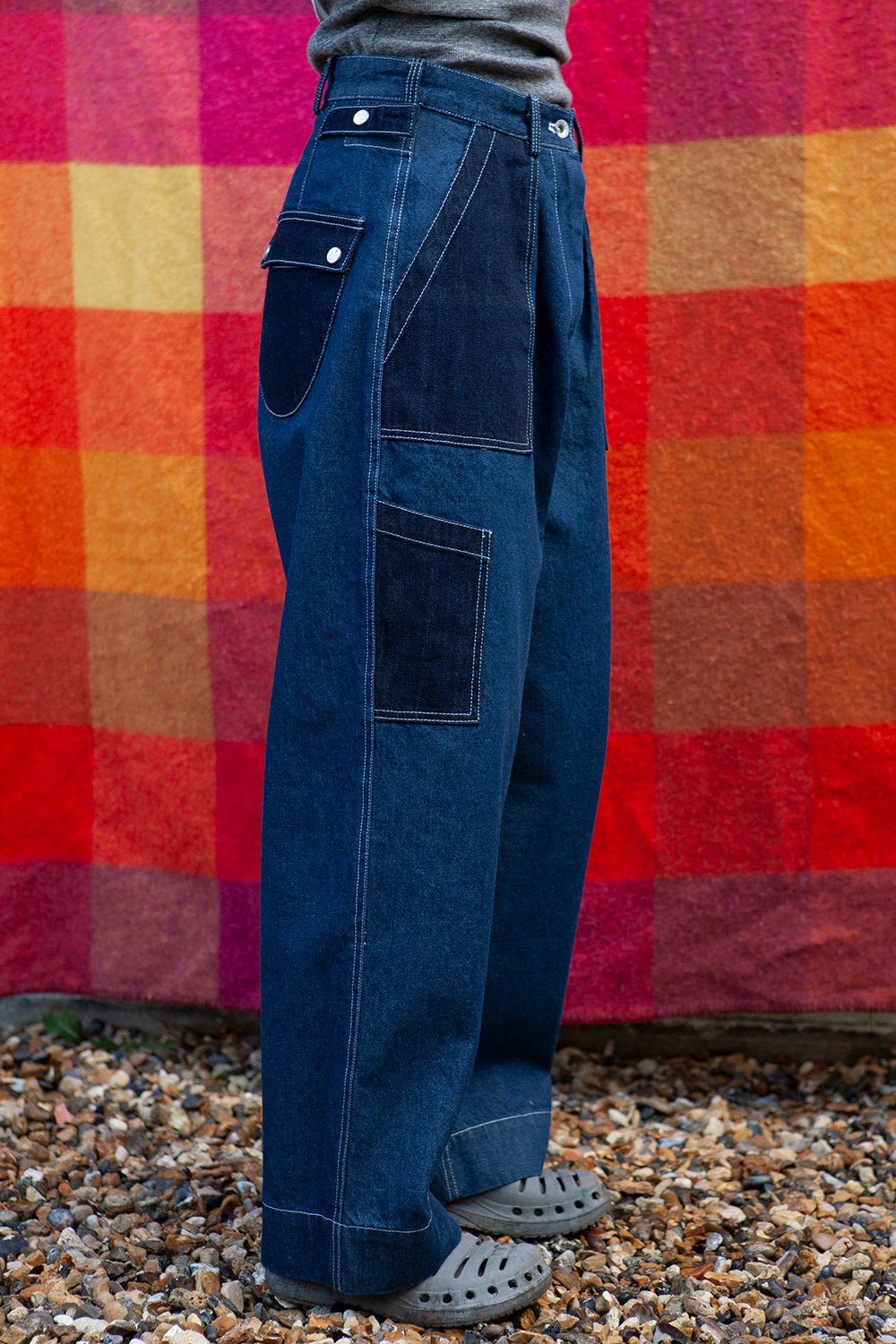Flight Pants in Denim