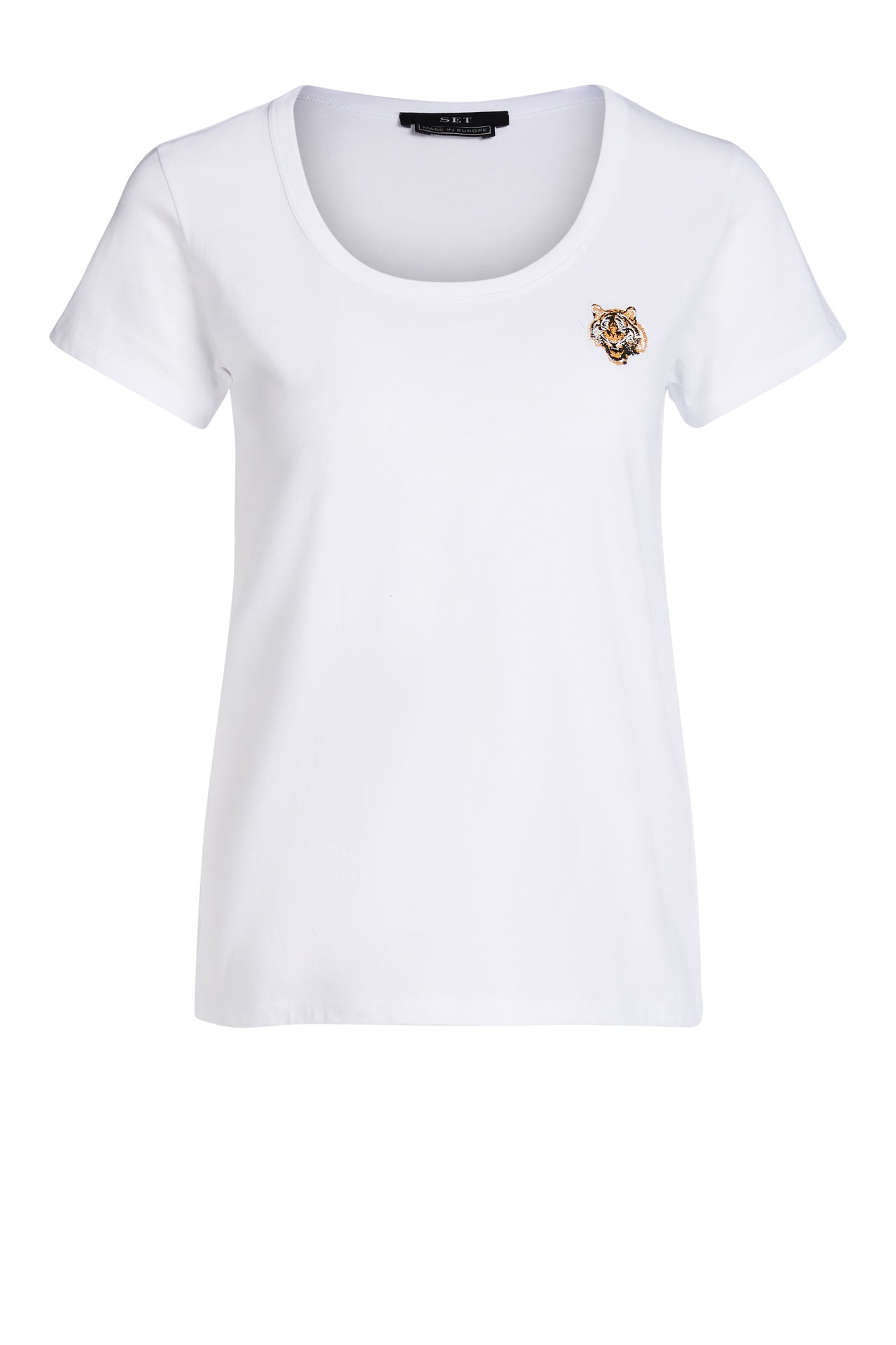 Tiger Badge T-Shirt in White