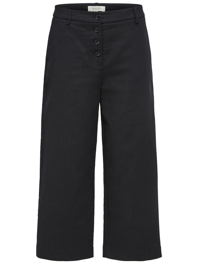 Rose Cropped Pants in Black