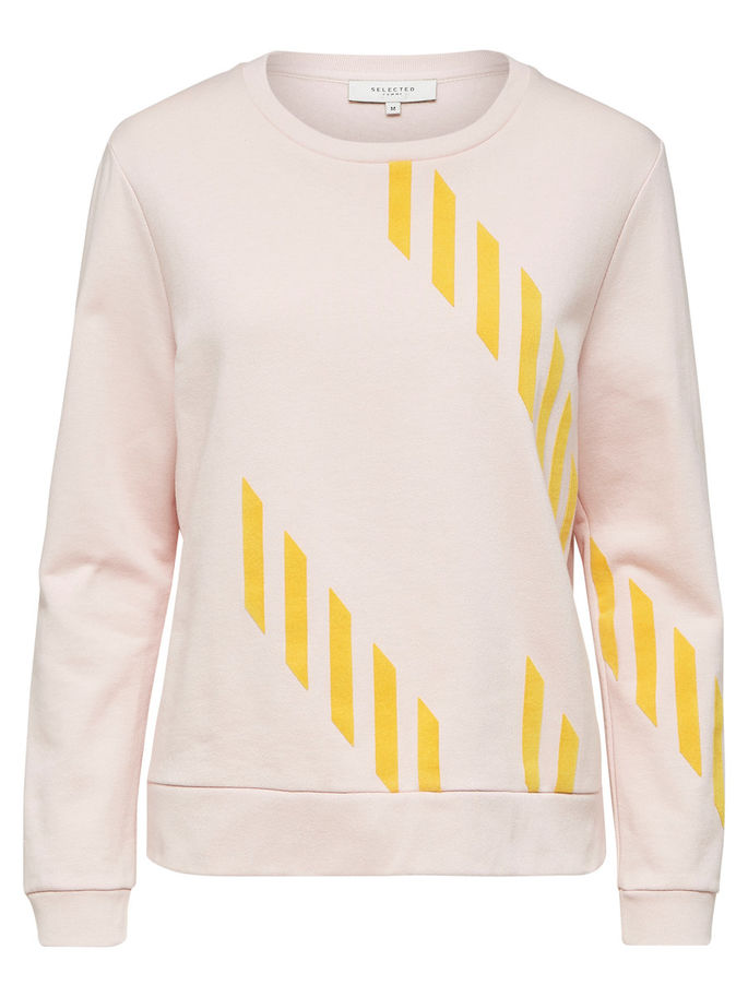 Very Sweatshirt in Pink and Yellow