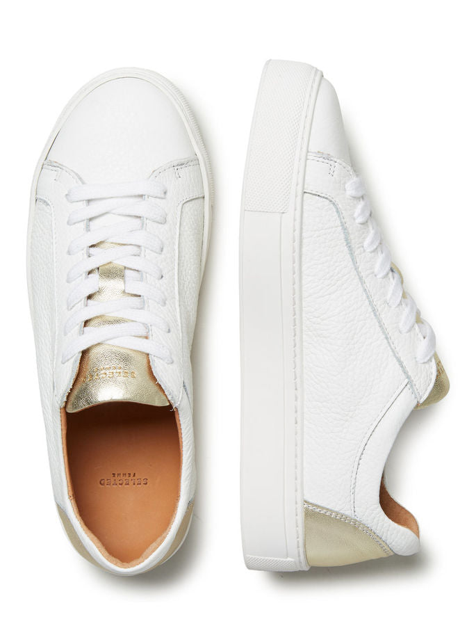 Donna Sneakers in White and Gold