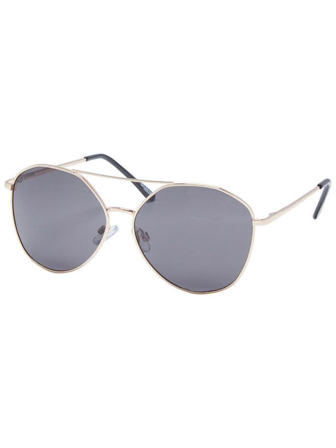Metal-Framed Sunglasses in Gold