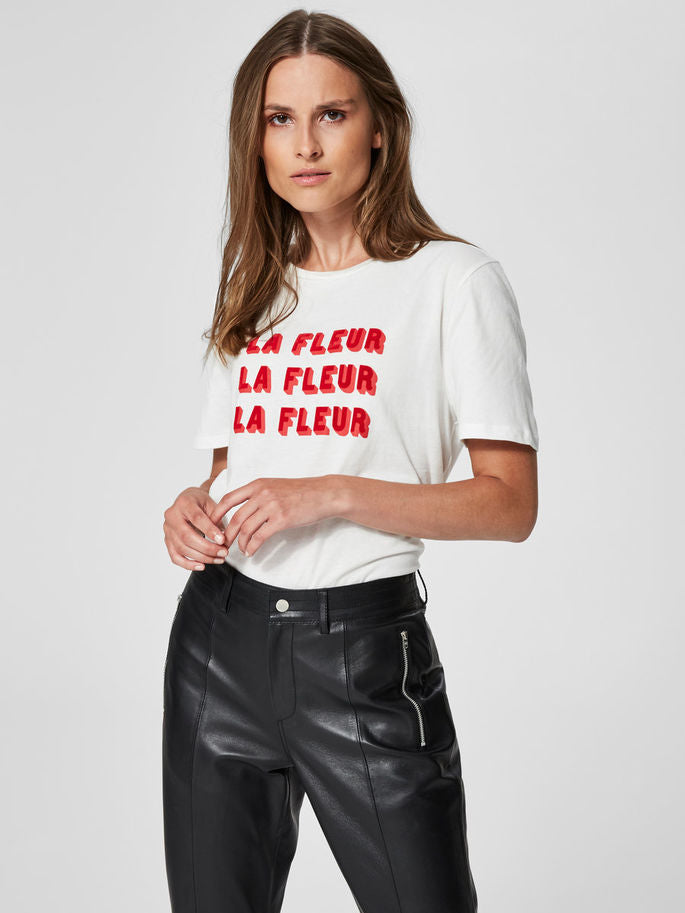 La Fleur T-Shirt in Snow White