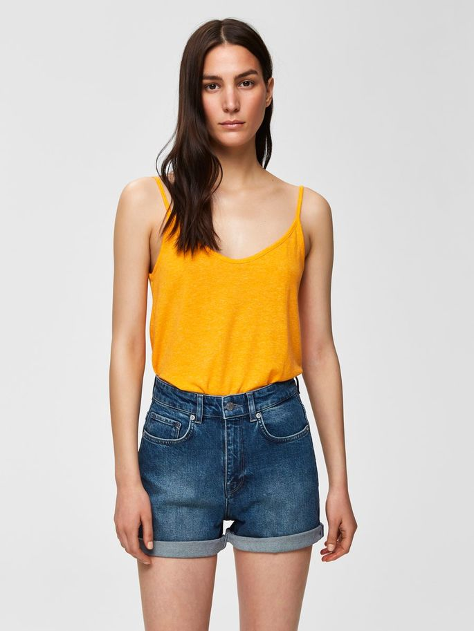 Ivy Strap Top in Radiant Yellow