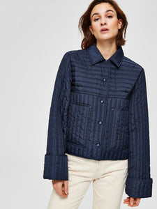 Renea Quilted Jacket in Night Sky