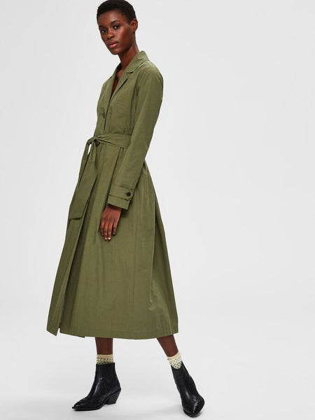 Tinka Trenchcoat in Four Leaf Clover Green