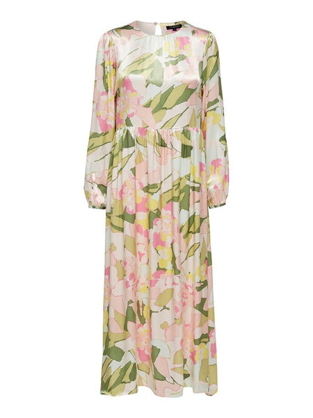 Mola Cinched Waist Maxi Dress in Rosebloom