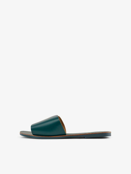 Dark Green Leather Slip On