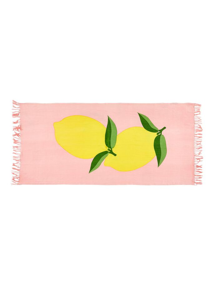Lemon Print Beach Towel