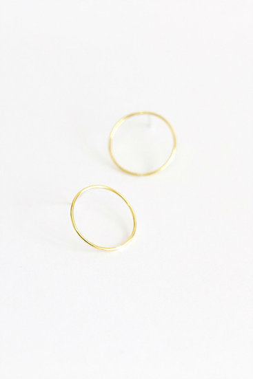 No.7 Earrings in Gold Plate