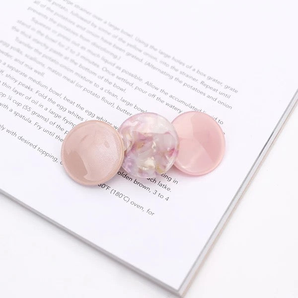 Circle Candy Hairslide in Pink