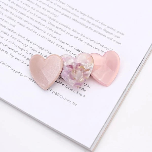 Heart Candy Hairslide in Pink