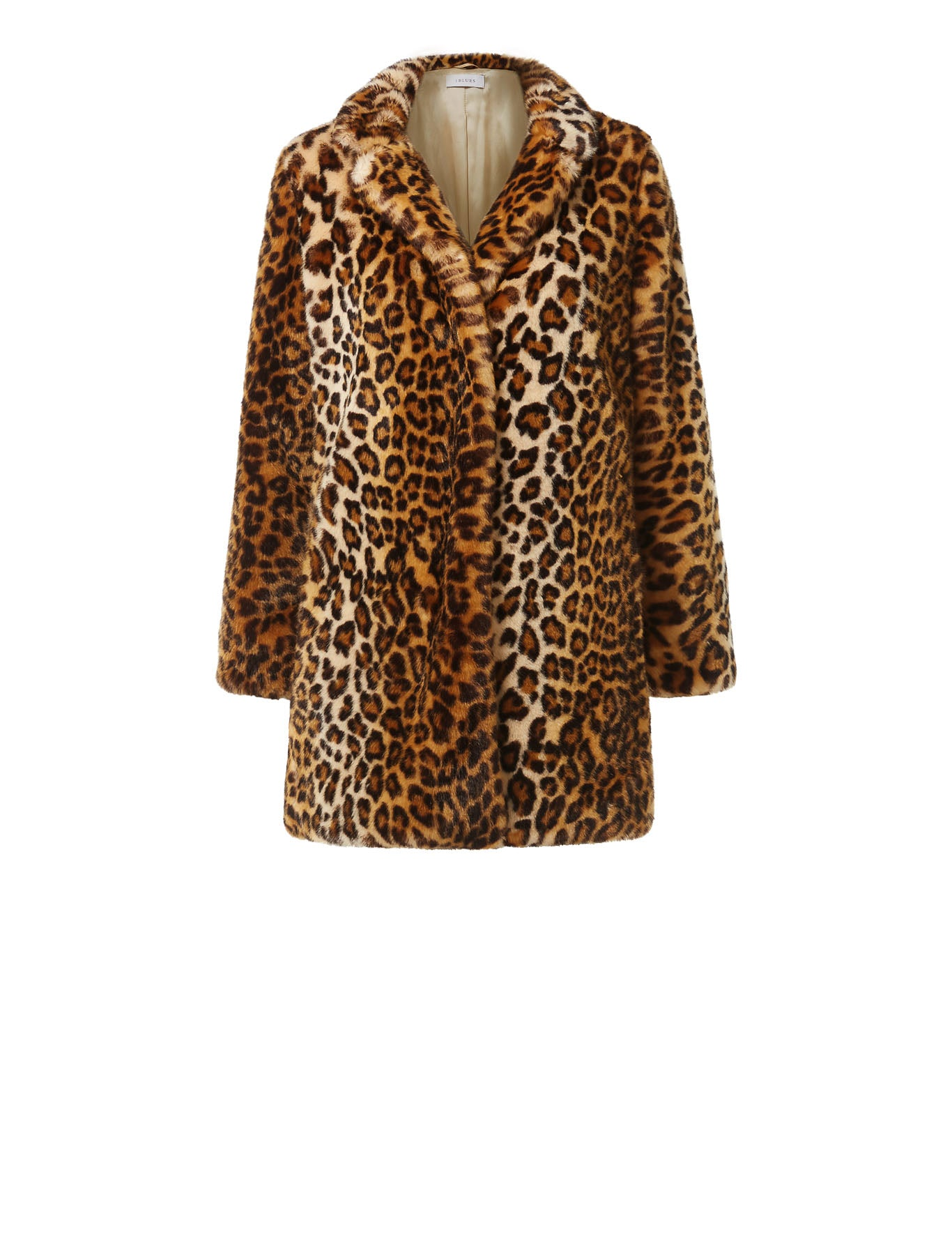 Dritto Faux-Fur Coat in Leopard Print