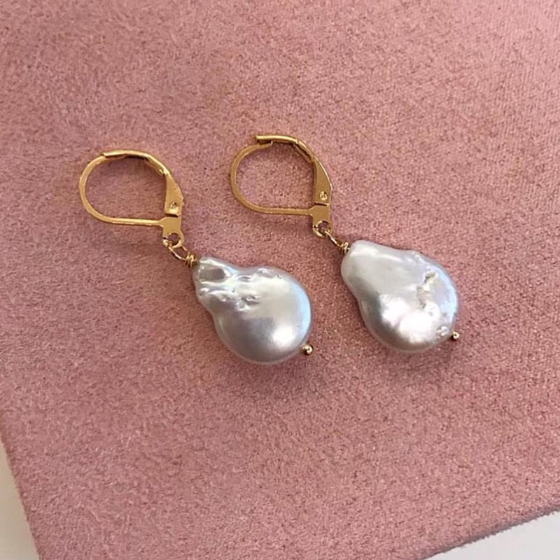 Gigi Natural Pearl Earrings