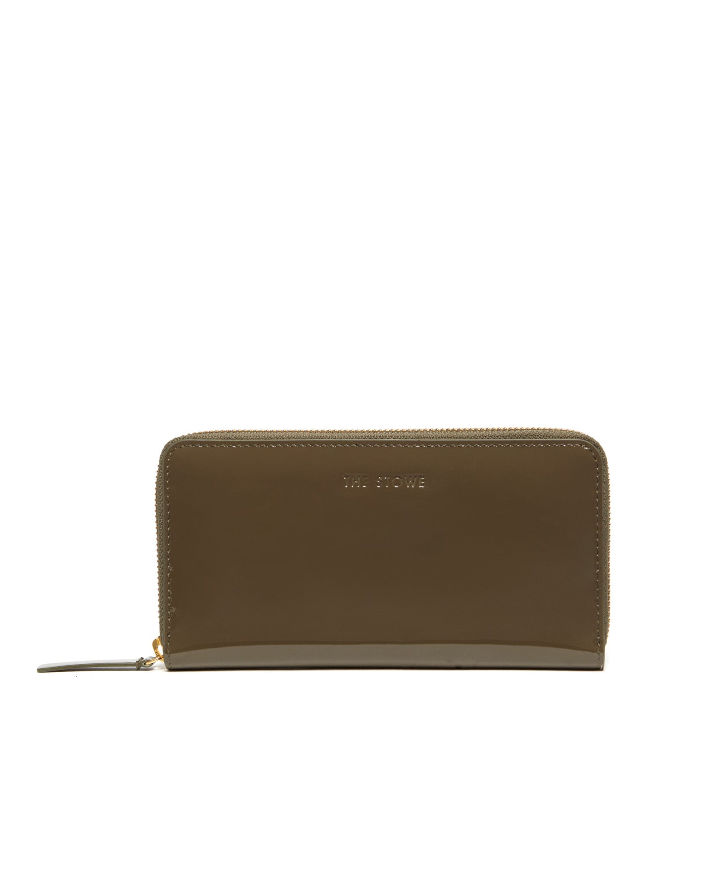 Patent Zip Wallet in Army