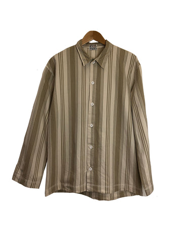 Long Sleeve Weaver's Stock Beach Stripe Shirt - Sand