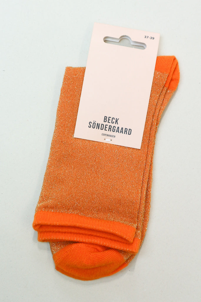 Dina Solid Coll Socks in Orange