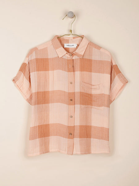 Plaid Shirt in Salmon