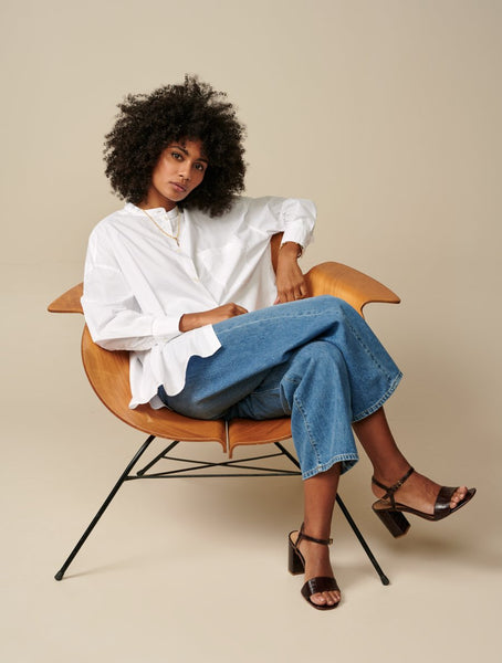 Gorky Oversized Shirt in White