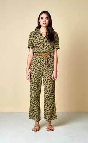 Pumpy Overall in Leopard Print