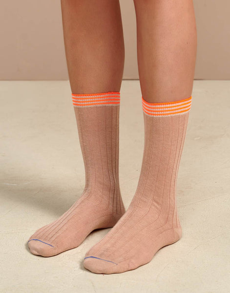 Foras socks in Blush