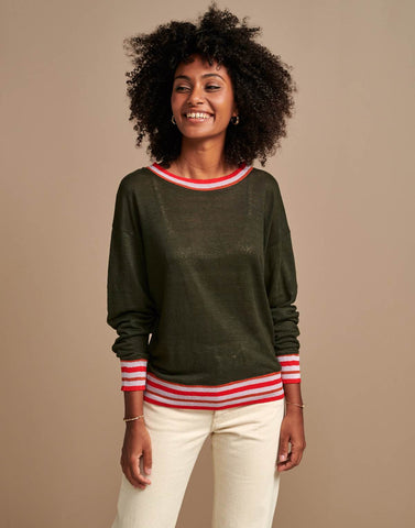 Senia T-Shirt in Dark Olive