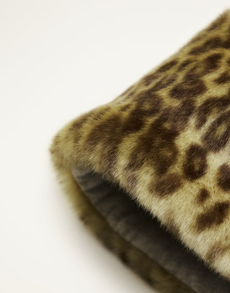 Lidya Faux Fur Hat in Leopard
