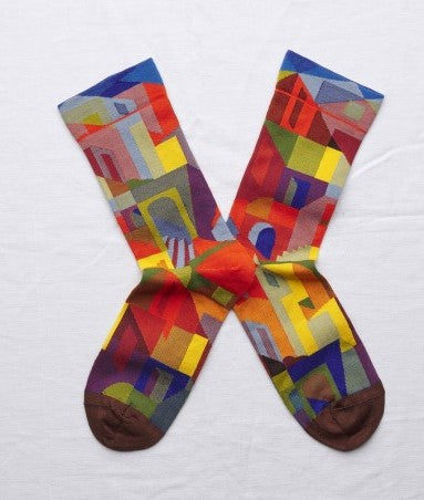 Multicoloured City Socks