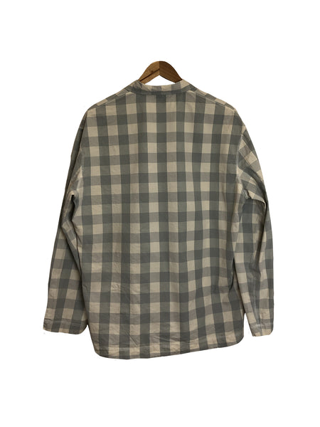 Long Sleeve Weaver's Stock Broad Check Shirt - Sky