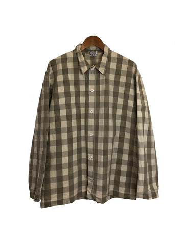 Long Sleeve Weaver's Stock Broad Check Shirt - Grey