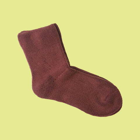 Towelling Socks Chocolate