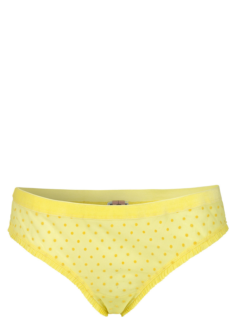 Tallie Soft Dot Briefs in Limelight