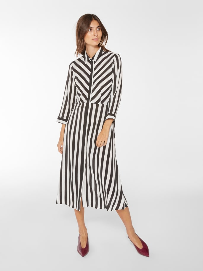 Y.A.S Striped Midi Shirt Dress