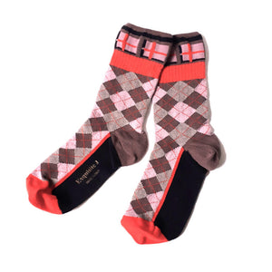 Pink Checked Socks