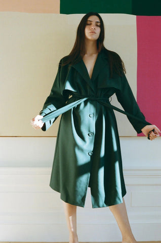 City Trench in Dark Green