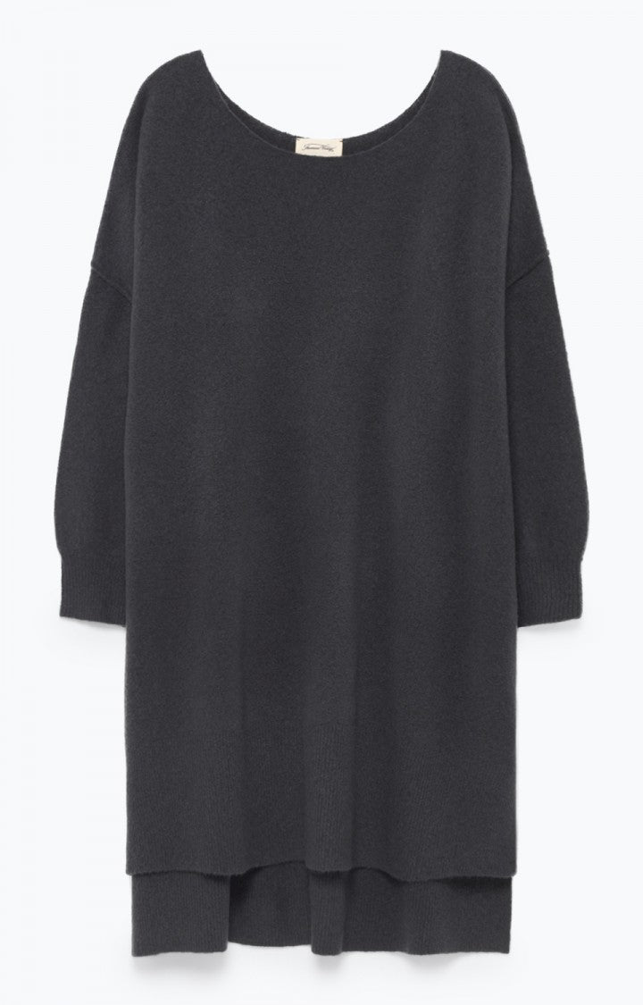 Damsville Sweater Dress in Charcoal Melange