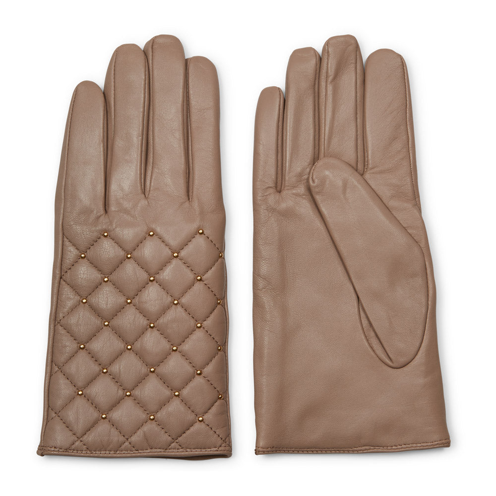 Quilt Gloves in Stucco