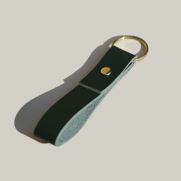 Brass Keyring in Forest