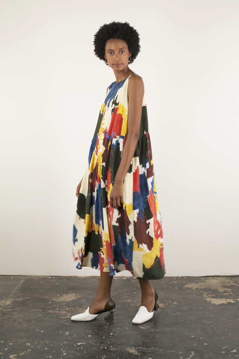 Lucia Dress in Paint Splatter Print