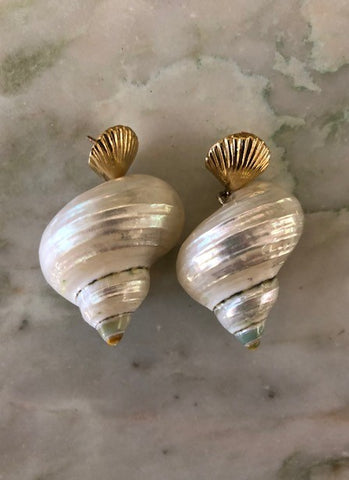 Concha and Caracol Earrings