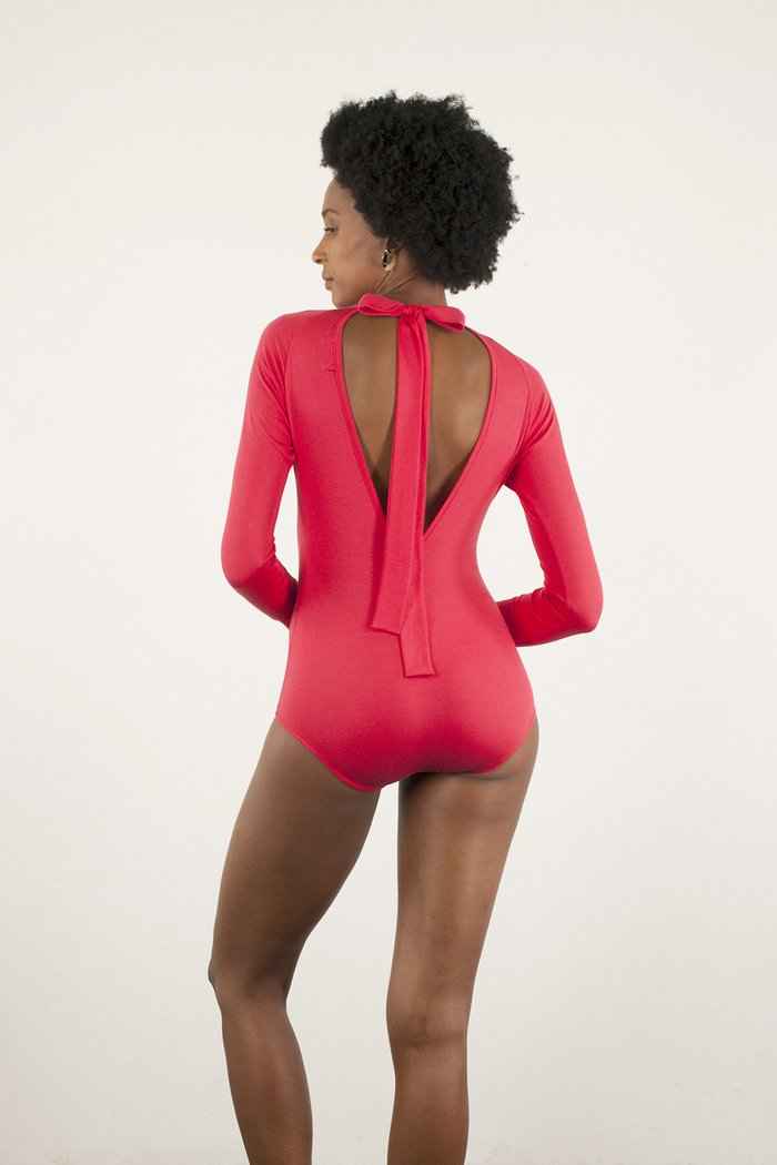 Pine Bodysuit in Red