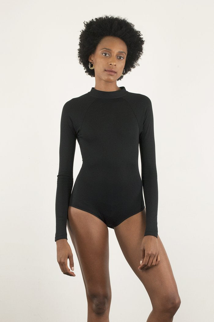Pine Bodysuit in Black