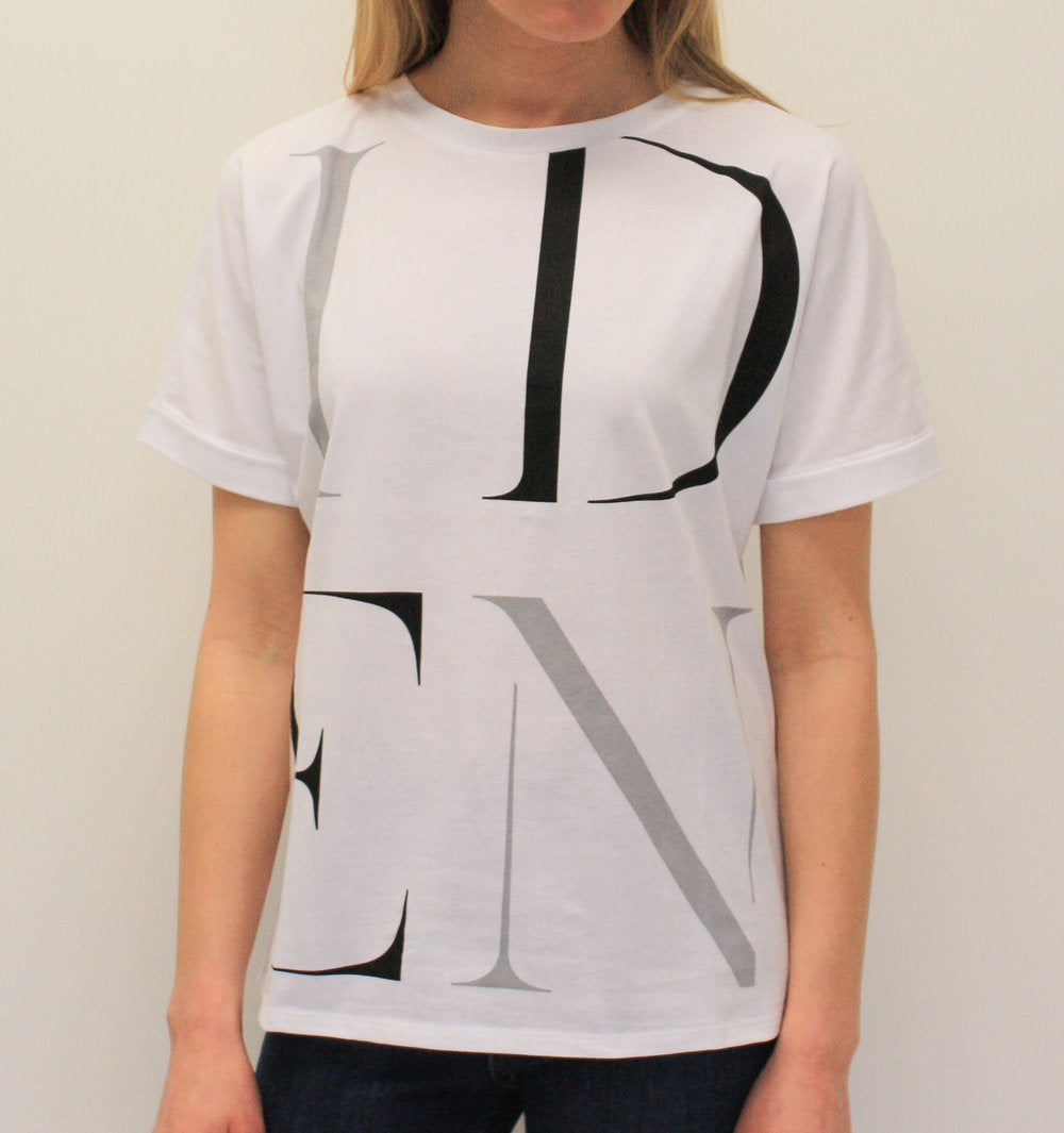 Printed Logo T-Shirt in White
