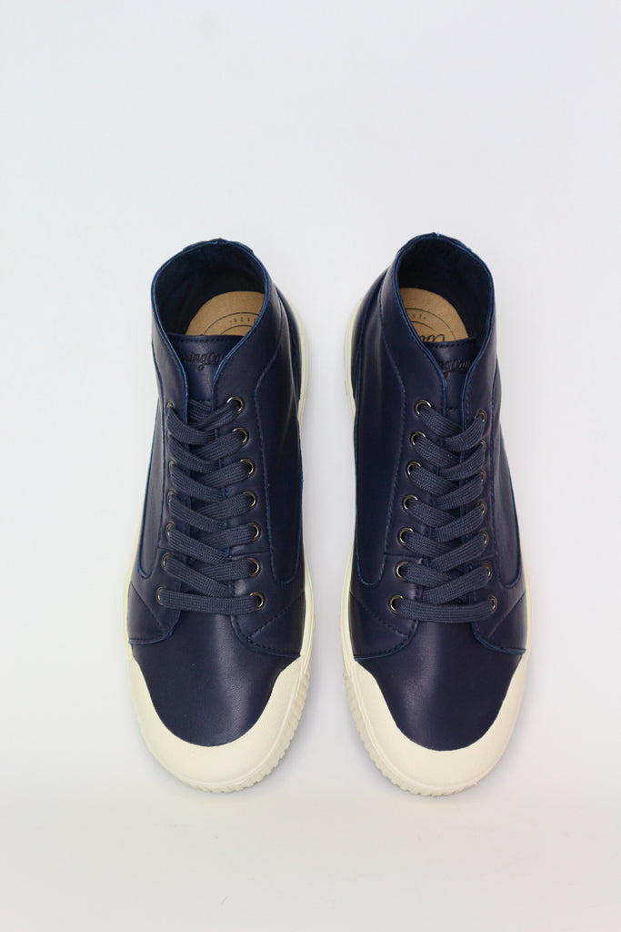 M2 Midnight Blue Lambskin Leather sneakers