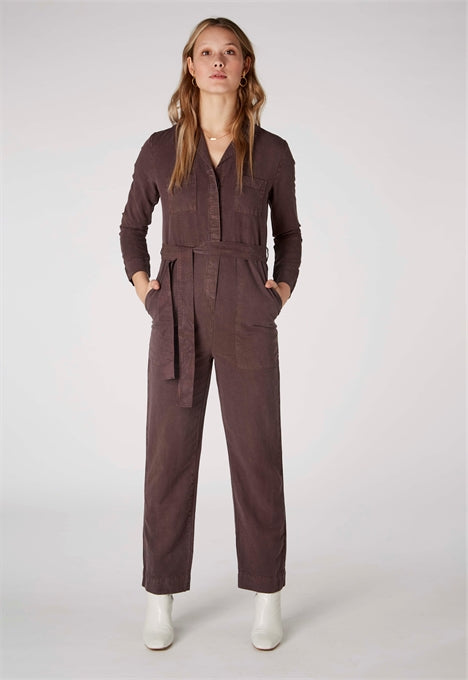 Janelle Jumpsuit in Frosted Fig