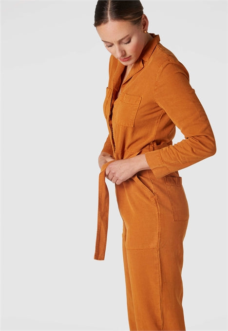 Janelle Jumpsuit in Rich Caramel