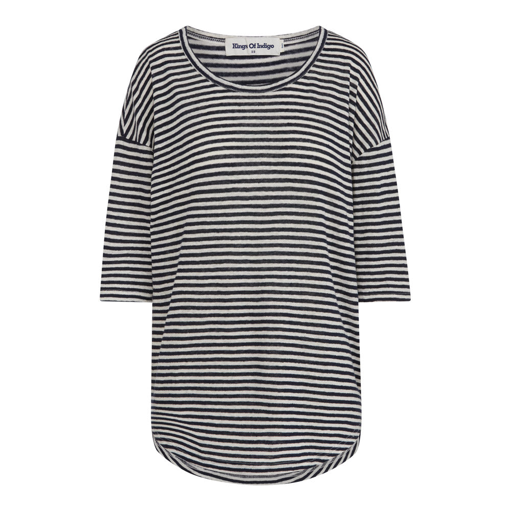 Billie T-Shirt in Navy Fine Stripe