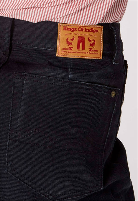 Leila Jeans in Compact Black