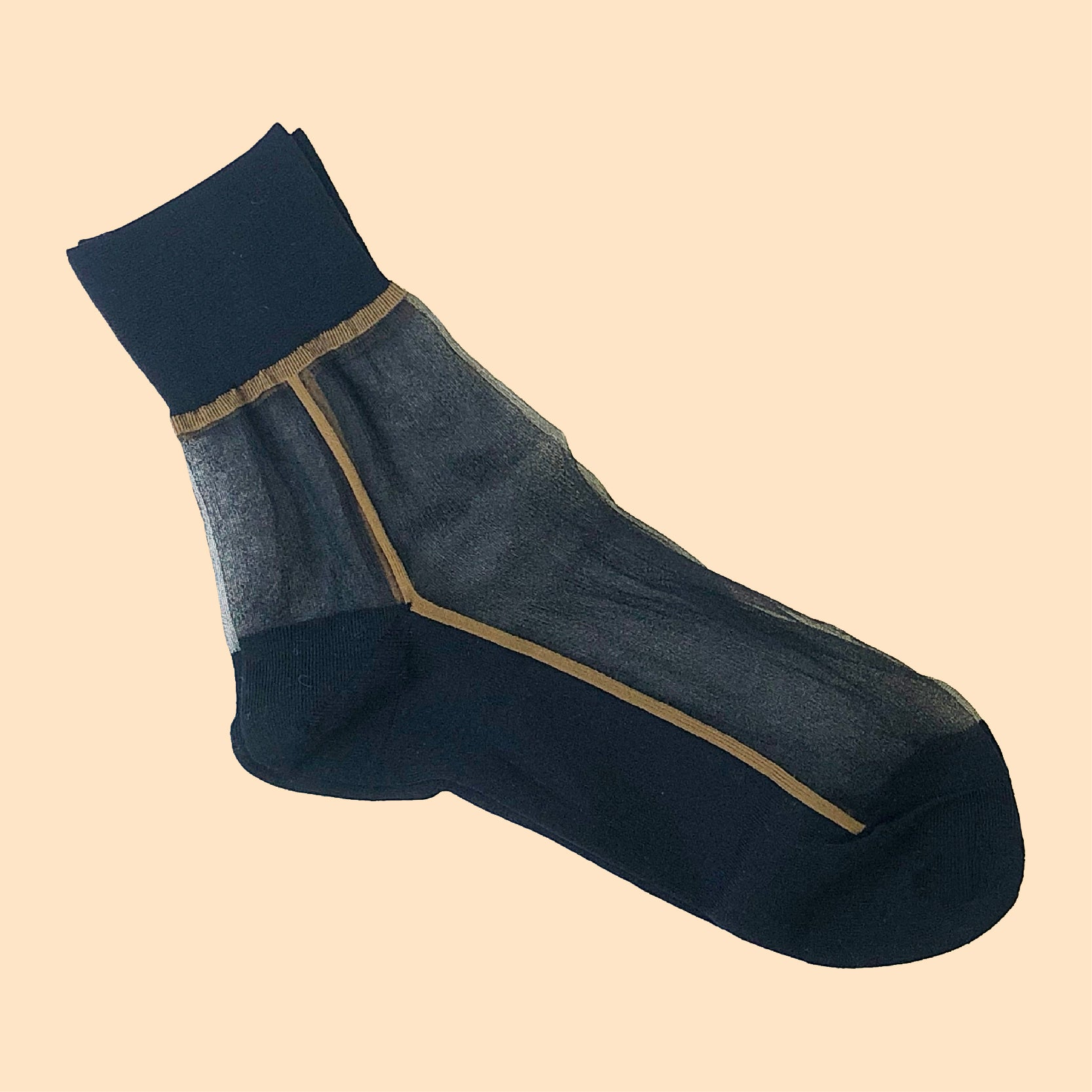 Mesh Line Socks Black