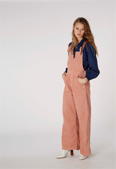 Mirta Corduroy Dungarees in Apple Blossom